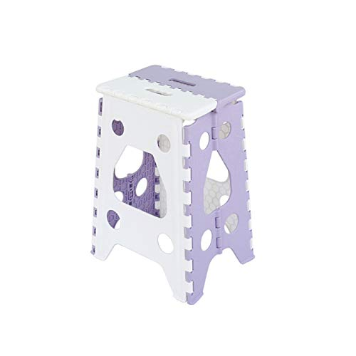 Household Plastic Folding Stool, Simple Chair, Adult Dining Table Stool, Easy and Convenient, Compact Design, Outdoor Portable Stackable High Bench