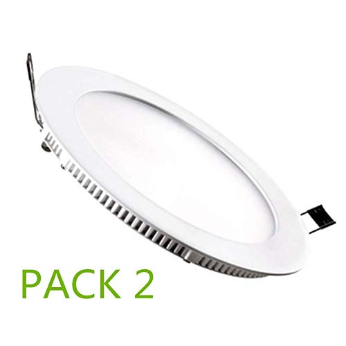 Placa LED Circular SuperSlim 12W (Pack 2) Downlight LED Blanco Frío 6000k-6500k ONSSI LED