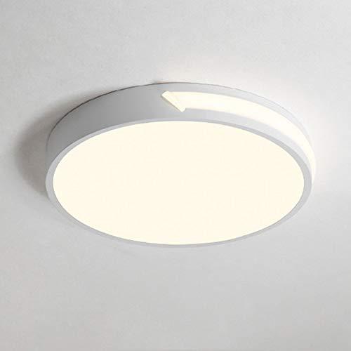 Plafoniera a LED acrilico bianco Ferro giri materiali Cool White (6000K) creativa e moderna 18W di potenza a pulsante luci di soffitto usate per vivere sala camere [Classe energetica A +]