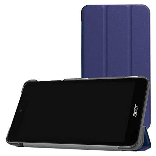 Case2go - Case for Acer Iconia One 7 B1-780 - Slim Tri-Fold Book Case - Lightweight Smart Cover - Navy Blue
