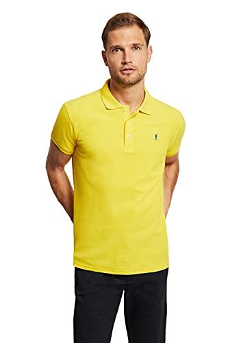 Polo Piqué Amarillo para Hombre
