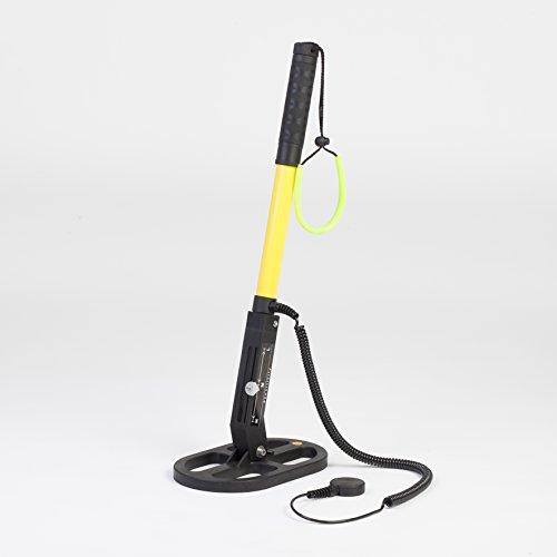 Profesional bajo el agua de detector de metales uwm 30ovalado Sonda Negro de amarillo, con Fang banda Incluye Bolsa F. Sonda