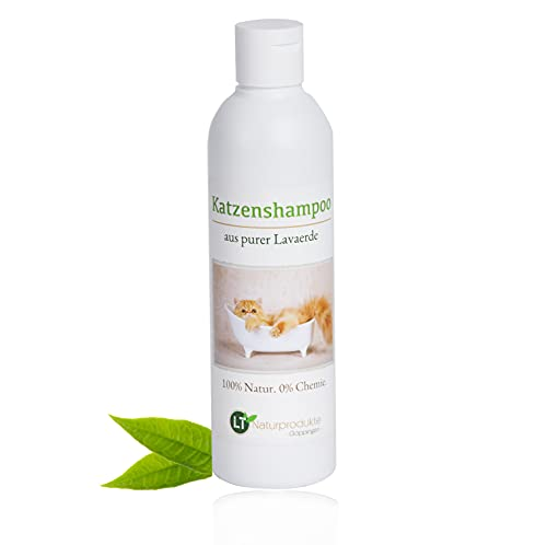 Shampoo per gatti | biologico | senza prodotti chimici e sapone | ipoallergenico | contro il prurito | con argilla saponifera | 250 ml | per pelo corto e lungo | per un pelo lucente