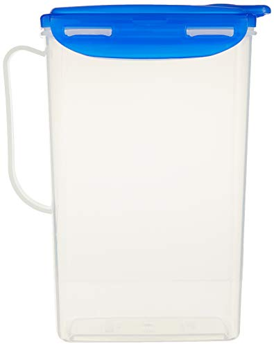 Lock & Lock Carafe rectangulaire pour porte de réfrigérateur - Transparent/bleu - 2 L