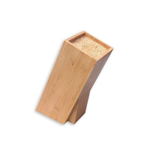 Kesper 57021 Bloc à couteaux Pour couteaux et accessoires de cuisine Bambou
