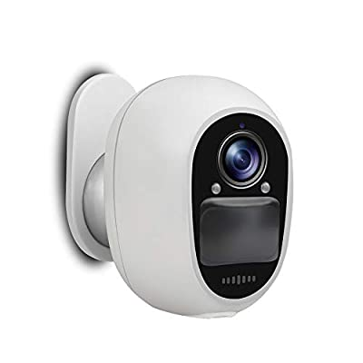 EVERSECU Outdoor Wireless Security Camera, Rechargeable Battery-Powered WiFi 1080P Home CCTV Surveillance Camera, with 5000mAh Battery PIR Motion Detection, 2-Way Audio, Night Vision Waterproof