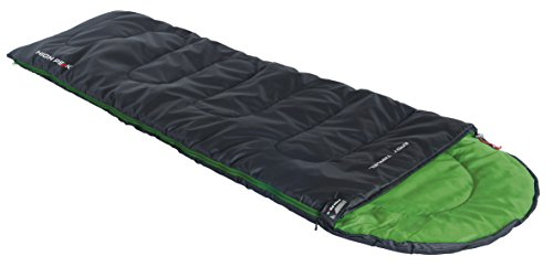 High Peak Schlafsack Easy Travel, anthrazit/Grün, 220 x 75 x 7 cm