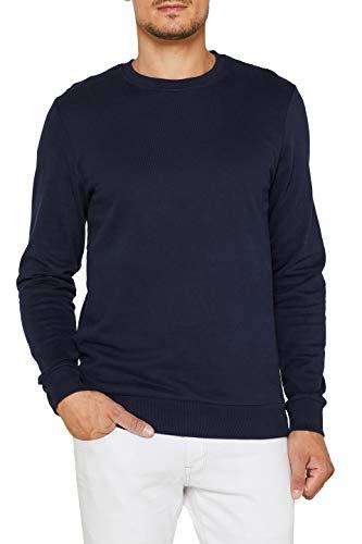 edc by ESPRIT Herren 089Cc2J014 Sweatshirt, Blau (Navy 400), X-Large (Herstellergröße: XL)