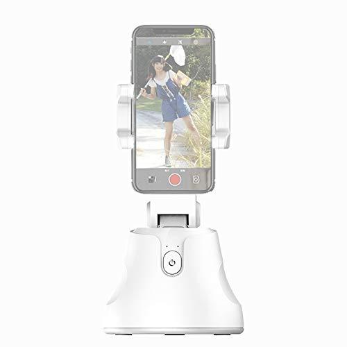 DAIQIPA Teléfono Inteligente 360 Rastreo en la Cara Rastreo Estabilizador de Disparos Anti-Shake Handheld Gimbal Tripod Soporte Selfie (Negro, Blanco) (Color : White)