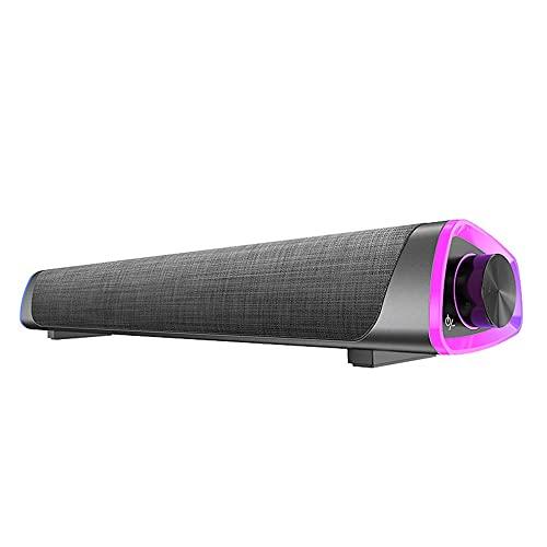 Olddreaming Barra de sonido envolvente 3D 5.0 altavoz altavoz altavoces estéreo subwoofer Soundbar para ordenador portátil teatro TV