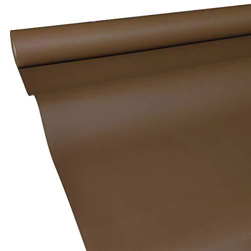 JUNOPAX 60435454 Papiertischdecke 50m x 1,00m Schoko-braun nass- und wischfest