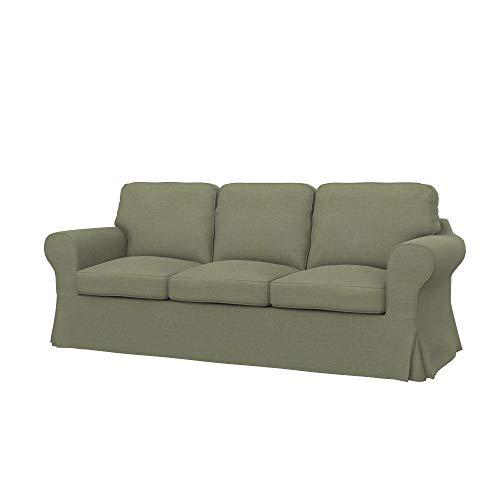 Soferia Funda de Repuesto para IKEA EKTORP sofá de 3 plazas, Tela Elegance Taupe, Beige