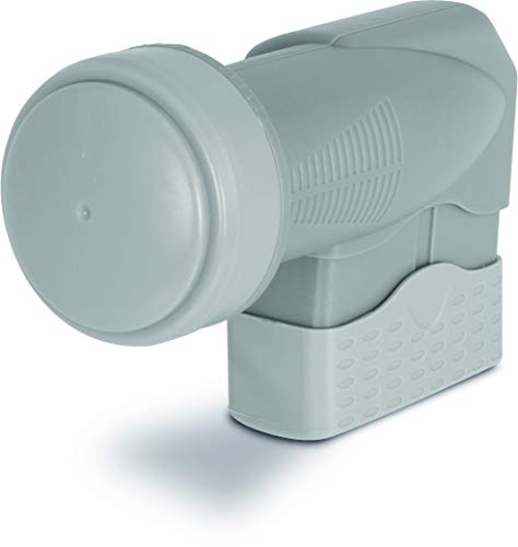 TechniSat EUROTECH QUAD-LNB - Quattro-Switch LNB für bis zu 4 Teilnehmer mit 40mm Feed-Aufnahme (Wetterschutz, UHD/4k, Full HD, 3D), grau