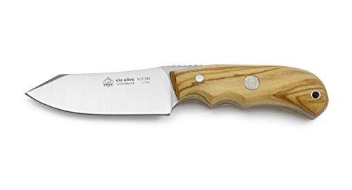 Puma IP Ela Olive Wood Handle Spanish Made Hunting Knife with Leather Sheath