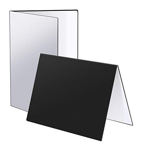 Neewer 30x21cm Pannello Riflettente Riflettore Pieghevole per Fotografia da Tavolo di Gioielli, Cosmetici, Cibi & Prodotti, Registrazioni Video (Nero/Bianco/Argento)