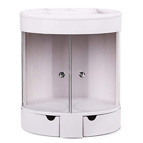 KUNSE 3-laags transparante deur bureaublad make-up cosmetische organisator opbergtas lade