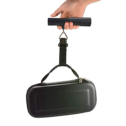 Báscula de equipaje, Báscula de equipaje colgante recargable, 50 kg/110 lb LCD Báscula de pesca de viaje Banco de potencia de peso electrónico, Deducción de tara, Bloqueo, Cero, Apagado automático, Ad