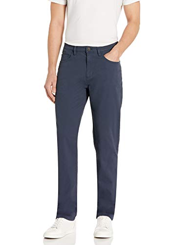Amazon Brand - Goodthreads Men's Athletic-Fit 5-Pocket Chino Pant, Navy, 34W x 32L