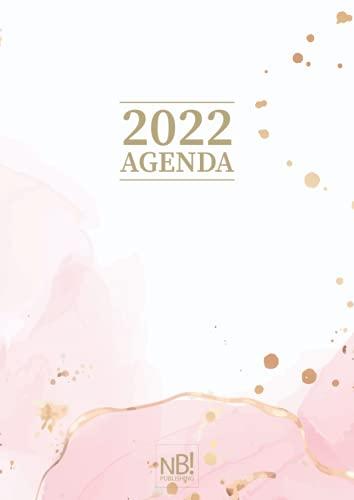 Agenda 2022: Rosa - Planner 2022 settimanale e giornaliera in italiano - 365 giorni - in formato A4 grande - copertina morbida