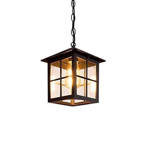 Luce a sospensione moderna American in alluminio a pressione antainia corridoio corridoio vetro appeso lampada retrò esterna impermeabile a prova di ruggine candeliere all'aperto gazebo giardino soffi