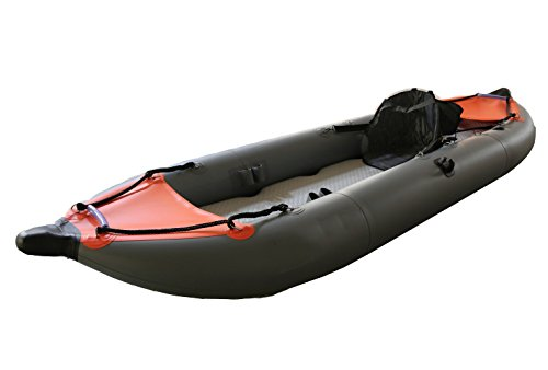 Norestar 11' Inflatable Fishing Kayak/Boat with Two Fishing Rod Holders, Foot Pump, Seat