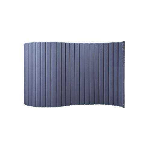 VERSARE VersiPanel Acoustical Partition Wall - Panel Sound Screen Divider (Black, 8' Wide X 6'6