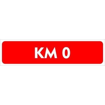 Cartel Vehículo Kilometro 0 | Medidas 60x15cm | Cartelería Coche KM 0 Fabricado en Polipropileno | Cartel Resistente con 4 Ojales de Policarbonato | Ideal para Concesionarios o Particulares