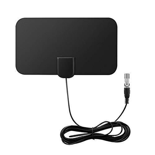 Xuebai Antena HDTV Soporte 1080P 50-60 millas Rango de canales de antena digital con amplificador de señal