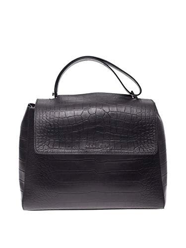 Orciani Luxury Fashion Donna BT2006KINDUNERO Nero Pelle Borsa A Mano | Primavera-estate 20