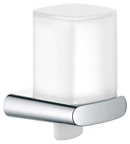 KEUCO Lotion-Spender Metall verchromt und Kunststoff, Inhalt nachfüllbar ca. 180ml, Seifenspender für Bad und Gäste-WC, Wandmontage, Elegance