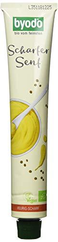 Byodo Extra scharfer Senf in der Tube, 8er Pack (8 x 100 ml Tube) - Bio