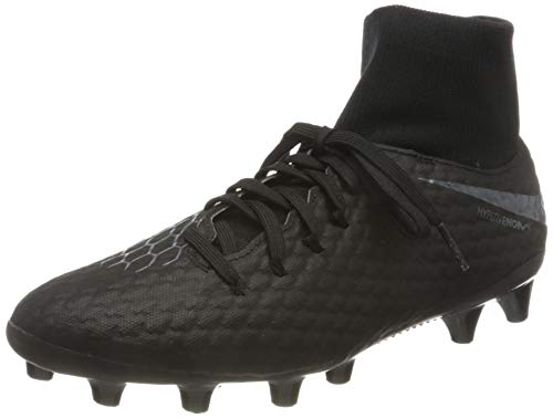 Nike Unisex-Erwachsene Hypervenom 3 Academy Df Ag-pro Fitnessschuhe, Schwarz (Black/Black 001), 40.5 EU