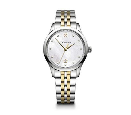 Victorinox Mujer Alliance Small - Reloj de Acero Inoxidable de Cuarzo analógico de fabricación Suiza 241831