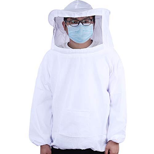 Robasiom Imker-Anzug Imker-Bekleidung mit Schleierhut, Bienensicher, leicht, Weiß