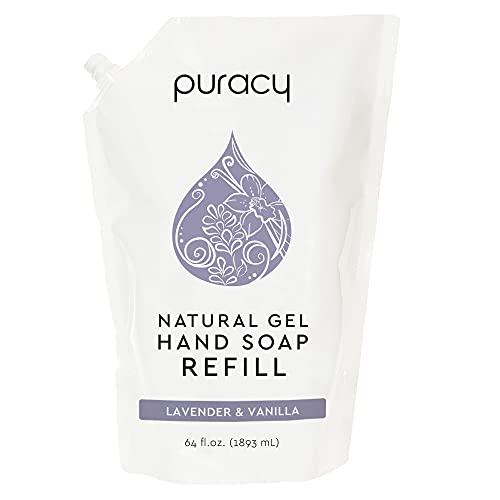 Puracy Natural Gel Hand Soap Refill, Lavender & Vanilla, 64 Fl Oz, Moisturizing Liquid Hand Wash