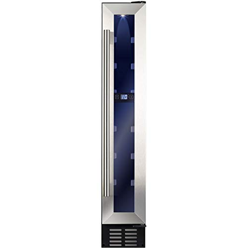 Amica AWC151SS 15cm Feestanding Wine Cooler - Stainless Steel