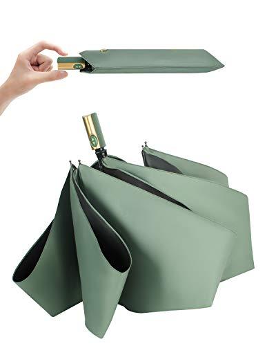 【2021新版】日傘 ワンタッチ自動開閉 折りたたみ傘 コンパクト 超軽量(260g) 折り畳み日傘 UVカット100 完全遮光 遮熱 紫外線遮断 耐風撥水 晴雨兼用 携帯便利 メンズ レディース 母の日 父の日