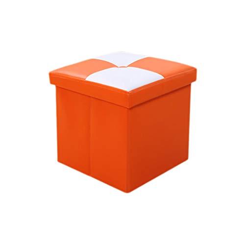 Otomano Cómodo Cofre de Almacenamiento Plegable Taburete Portátil Puf Picnic Asiento Sofá Taburete Ahorro de Espacio Carga máxima 100 kg Silla YIGEYI (Color : Orange, Size : 76 * 38 * 38cm# 110L)
