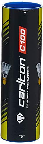 Dunlop Badmintonball Carlton Club C100 3er Weiß/Nylonfuß Gelb Mittel