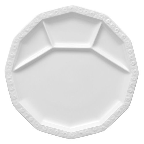 Rosenthal 10430-800001-15313 Maria Fondue -/Grillteller 28 cm, weiß