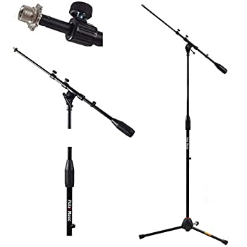 Hola! Music HPS-101TB Professional Tripod Microphone Mic Stand with Telescopic Boom Black