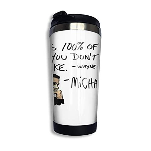 Tazas térmicas Taza termo portátil Michael Scott Quote Taza de café de acero inoxidable para acampar al aire libre, taza de viaje 400ML