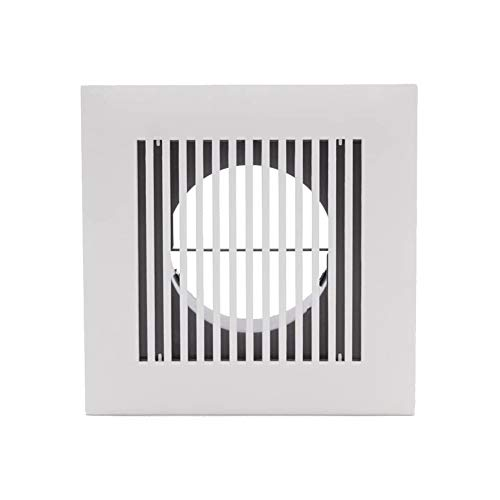 ZYF Vent Fan Exhaust Blower 4 Inch Diameter Soffit Vent Adjustable Square Louver ABS Intake Vent Grill Cover White
