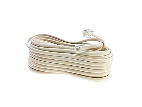 Cable RJ11 para teléfono de 15 metros, telefónico, telefonía, ADSL, enchufe para módem, hilo, hilos, cables