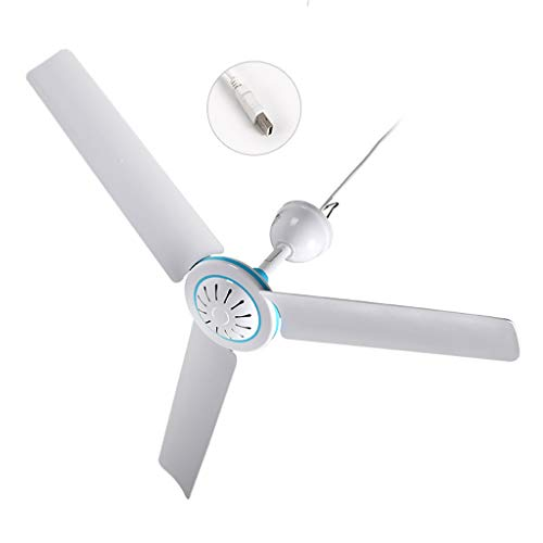 Mcbbigxw Deckenventilator Ceiling Fan. USB Ventilator, 50 cm Durchmesser, 3 Klingen, DC 5V-2A USB Power, 6 W.