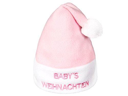 Alsino kerstmuts baby kerstmuts 0-6 maanden 'Baby Kerstmis' roze pompon wm-93
