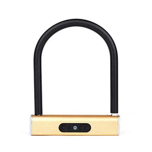 Wanuigh Smart Lock Smart Keyless U-Lock toetsenbord wachtwoord voor fietsen, motorfietsvergrendeling, werkt op batterijen, voor deurvergrendeling, veiligheidsgreep