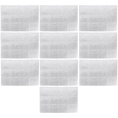 HEALLILY 10 Piezas de Plástico Porta Monedas Páginas 12 Bolsillos Fundas para Monedas Hojas para Almacenamiento de Monedas Colección de Dinero Álbum Caja Sellos Carpeta Insertos para