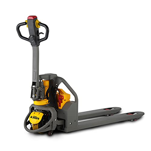 Xilin Electric Powered Pallet Jack 3300lbs Capacity Lithium Battery Walkie Pallet Truck 48'x27' Fork Size