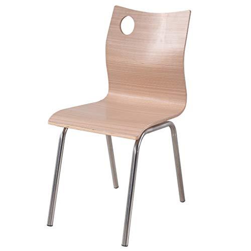 Lxn simplicité Moderne Chaise Design à Manger, siège Bentwood Jambes en Acier Inoxydable Chaises, Salle à Manger, Cuisine, Salle de réunion, Bureau, Chaise d'ordinateur - 1pcs